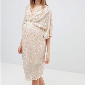 ASOS DESIGN Sequined Maternity Dress